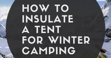 Insulate tent in winter